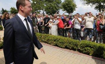 Medvedevs Krimas pensionāriem: Naudas nav, bet jūs turieties