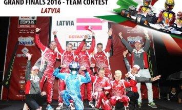 Latvijas kartinga komanda startē 'Rotax' pasaules finālā un gaida līdzjutēju balsis 'Facebook'