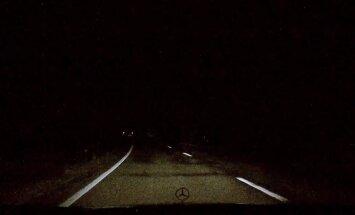 ВИДЕО: Почти сбил бабушку в темноте на Юрмальской трассе