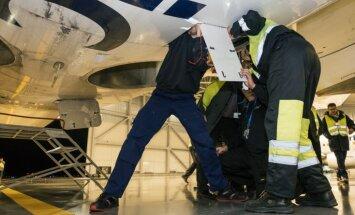 'airBaltic' jauno 'Bombardier C300' lidojumi pārtraukti dzinēja palīgiekārtas bojājuma dēļ