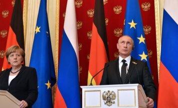 Merkele: Ukrainā joprojām nav ugunspārtraukšanas