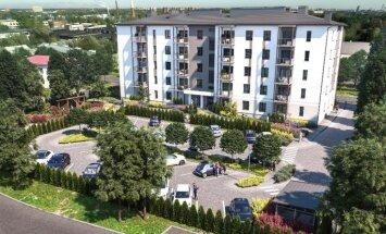 ФОТО: в Пардаугаве строится новый жилой пятиэтажный дом