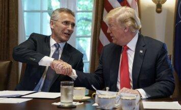 Stoltenbergs uzsver Trampa lomu NATO aizsardzības izdevumu pieaugumā