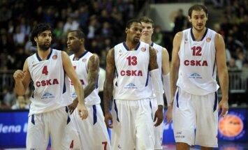 Maskavas CSKA izcīna uzvaru pirmajā Eirolīgas ceturtdaļfināla spēlē