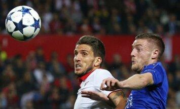 UEFA Čempionu līgas 1/8 fināls: 'Sevilla' pārspēj 'Leicester City', 'Porto' mazākumā piekāpjas 'Juventus'