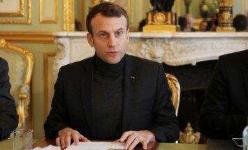 Francija sāks uzbrukumu Sīrijā, ja tiks pierādīta režīma vaina ķīmiskajos uzbrukumos, sola Makrons