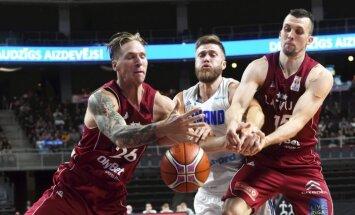 Latvijas basketbolistus no zaudējuma somiem neglābj arī Porziņģa klātbūtne