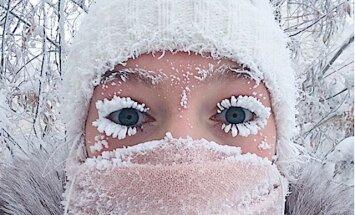 Pastaiga -47 grādos: par sensāciju kļūst foto no Jakutskas