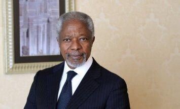 Annans aicina Putinu un Obamu uzņemties drosmi un būt līderiem katastrofas Sīrijā novēršanā