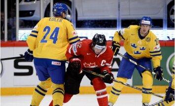 Zviedrijas izlases aizsargs Edlers par rupjību saņem diskvalifikāciju