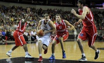 Latvijas basketbola izlase smagā cīņā piekāpjas Gruzijai