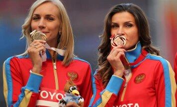 Pasaules čempionātā visvairāk zelta medaļas izcīnījuši Krievijas vieglatlēti