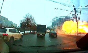 Video: Maskavas metro stacijā sprāgst gāzes balons