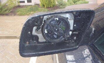 Cēsīs un Valmierā uzdarbojas automašīnu spoguļu zagļi