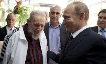 """Путин назвал Фиделя Кастро """"искренним и надежным другом"""" России"""