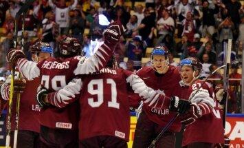 Latvijas hokejisti izcīna svarīgu uzvaru pār Vācijas valstsvienību