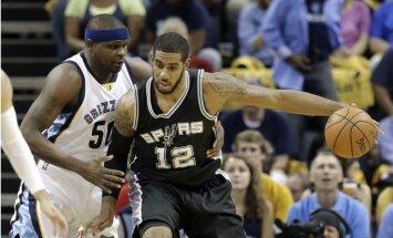 'Spurs' un 'Cavaliers' iekļūst nākamajā kārtā; 'Warriors' līderim Karijam atkal trauma