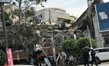 Mehiko satricina 7,1 magnitūdu stipra zemestrīce; vairāki bojā gājušie