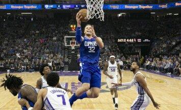 Grifins izrauj 'Clippers' uzvaru pār 'Kings'; 'Celtics' sakauj 'Pacers'