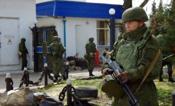 Krimā sācies uzbrukums Ukrainas militāro spēku bāzei
