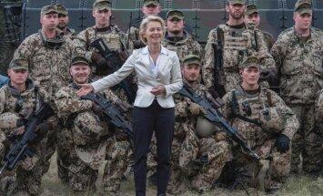 Vācijas aizsardzības ministre Viļņā izsaka atbalstu ES militārajai savienībai