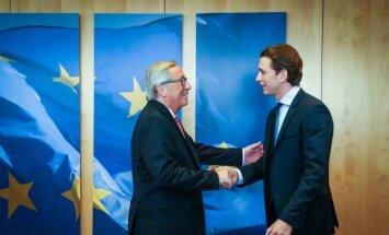 Новый канцлер Австрии отказался целоваться с Юнкером