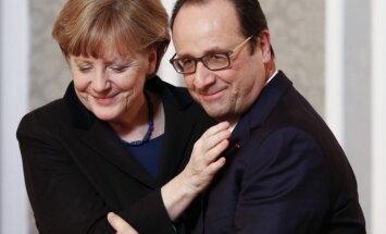 Francija vēlas pastiprināt eirozonas pārraudzību, pauž Olands