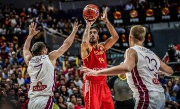 Vecvagars: spēles pēdējās sekundēs veiksme bija spāņu pusē