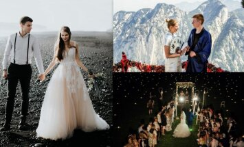 Ārzemēs, dabā vai dižā greznībā: kāzu stāsti, no kuriem smelties idejas un mīlestību
