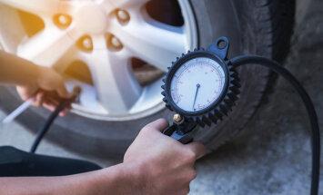 Gaisa spiediens riepās jāpārbauda ne tikai pie riepu maiņas
