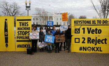 Obama uzliek veto un nobloķē megaprojektu - naftas vada 'Keystone XL' būvniecību