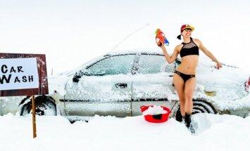 Foto: Sauli mīlošas meitenes dzīve sniegā un salā