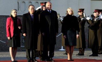 Pirmā ANO ģenerālsekretāra vizīte Latvijā - vēsturiska un nozīmīga, uzsver prezidents