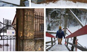 Foto: 'Nezinīša' ziemas ceļojums uz Talsiem, meklējot apsnigušās dabas pērles