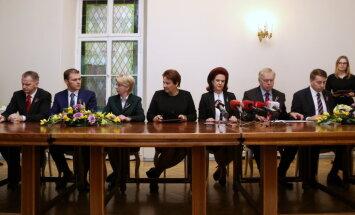 Valdības partneri parakstījuši koalīcijas līgumu un valdības deklarāciju