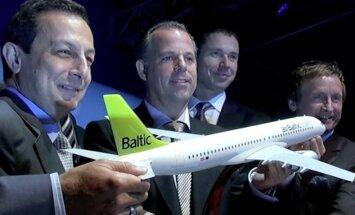 Bombardier протестирует в Риге свой новый самолет для airBaltic