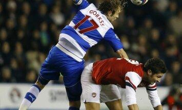 Gorkšs gūst vārtus otrajā 'Reading' komandas spēlē pēc kārtas