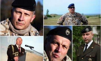 Ģenerāļi, pulkvedis un admirālis – kuras ir ietekmīgākās figūras Latvijas armijā