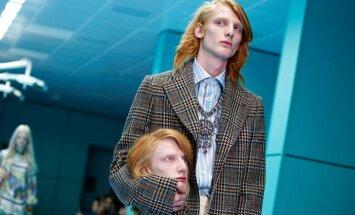На показе Gucci модели вышли на подиум со своими головами в руках