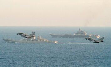 Lielbritānijas iznīcinātāji pavada Krievijas 'kauna kuģus', kas atgriežas no Sīrijas