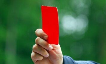 'AC Milan' sasniedz gadsimta rekordu sarkano kartīšu statistikā