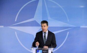 Krievijas darbības nedrīkst ignorēt, jāpalielina militārie budžeti, paziņo Rasmusens