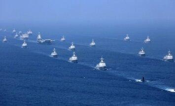 Ķīna veikusi militārās mācības Dienvidķīnas jūrā