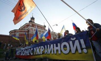 Maskavā pret karu Ukrainā protestē desmitiem tūkstošu cilvēku (plkst. 22:15)