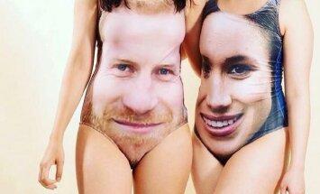 Британцы запустили новый тренд — купальники с изображением Гарри и Меган