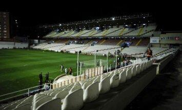 Sabotāža izjauc Spānijas futbola čempionāta spēli