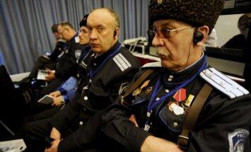 Foto: Sanktpēterburgā notiek Eiropas neonacistu salidojums