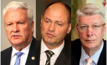 'Oligarhu lietas' komisija iztaujā Zatleru, Dūklavu un Liepiņu. Video tiešraide