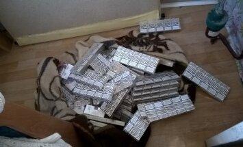 Talsu pusē policija izņem vairāk nekā 16 000 nelegālo cigarešu