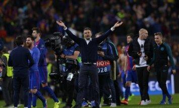 Bijušais 'Barcelona' treneris Enrike galvenais favorīts uz 'Arsenal' 'grožu' pārņemšanu